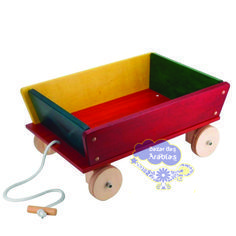 carretão, carretão holzmeister, brinquedos holzmesister, brinquedo de madeira, carrinho de puxar e guardar brinquedo, carrinho americano de puxar de madeira