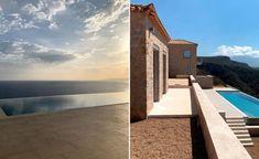 Aria Hotels: Περισσότερες επιλογές διαμονής στη Μάνη με τη Villa NUPADI - iTravelling Greece, Sidewalk, Villa, Mansions, House Styles, Home Decor, Greece Country, Decoration Home, Manor Houses