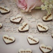 """Hochzeitskonfetti Holz """"Mr & Mrs"""""""