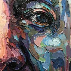 """Untitled"" by Joshua Miels (Undated) Painting Inspiration, Art Inspo, Identity Art, Expressive Art, Portrait Art, Portraits, Foto Art, Art Techniques, Art Studios"