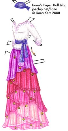 inkspired musings: Autumn poems, free paperdolls and super homemade costumes! Paper Dolls Clothing, Doll Clothes, Dress Sketches, Fashion Sketches, Gypsy Girls, Paper Dolls Printable, White Tunic, Homemade Costumes, Vintage Paper Dolls