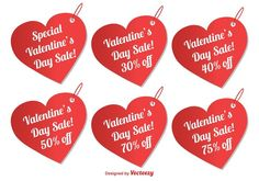 Free vector Valentine's Day Sale Tags
