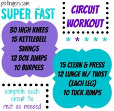 SUPER FAST Circuit Workout