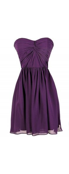 Twist of Fate Chiffon Designer Dress in Royal Purple  www.lilyboutique.com
