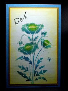 Eileen's Crafty Zone: Sweet Poppy Stencils and Distress Inks.