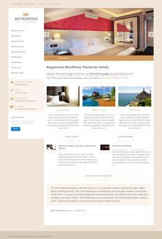 Metropolis Theme #WPTheme #WebDesign | #WPThemeHouse #Hotel #Theme