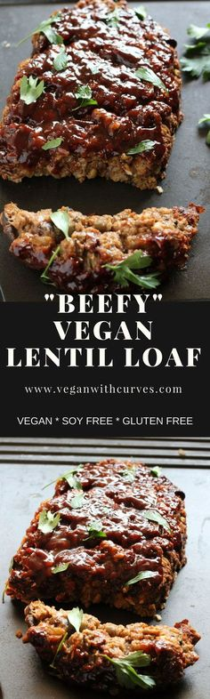 Vegan Lentil Loaf is an amazing meatless dinner. An all time comfort food classic. #vegan #glutenfrr