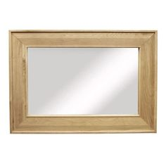 provence solid oak large rectangular mirror mirror ametis space shape aston solid oak wall mirror