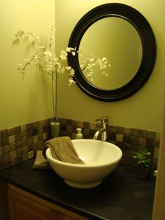 OMG!! look what you find on pinterest!! this is a picture of my bathroom at our old housr.  It was on a home decorating site, and someone posted it here! lol...