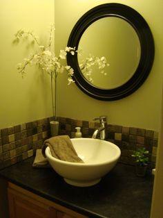 Love this sink for a powder bath!
