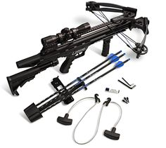 Carbon Express 20261 Intercept Axon LT Crossbow Ready-to-Hunt Scope Package Arrow Quiver, Crossbow Arrows, Crossbow Hunting, Ninja Weapons, Weapons Guns, Airsoft, Armas Ninja, Cool Swords, Self Defense Weapons