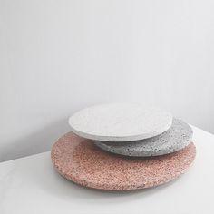 Round Terrazzo platters from The Minimalist Store