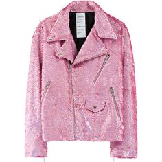Beywatch Bow Down Bitches! Amazing Beyoncé-Inspired Clothes On VFILES... ❤ liked on Polyvore featuring outerwear, jackets, pink, tops, pink sequin jacket, sequin jacket, bow jacket, ashish and pink jacket