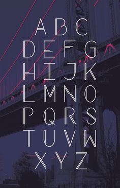 Manhattan Typeface by Liz Withers, via Behance