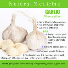 Natural Garlic Remedies