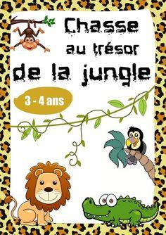 Chasse au trésor de la jungle pour les enfants de 3-4 ans.