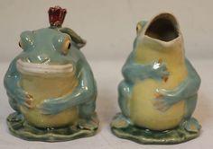 Vintage Majolica Frog Creamer Sugar 1KERMIT The Frog | eBay