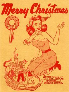 pin-up Christmas card
