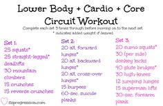 TOUGH Lower Body + Cardio + Core Circuit Workout -- www.itsprogression.com