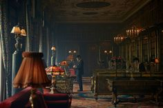 """A gallery of """"Peaky Blinders"""" publicity stills and other photos. Featuring Cillian Murphy, Paul Anderson, Helen McCrory, Joe Cole and others. Peaky Blinders Set, Peaky Blinders Season, Cinematic Lighting, Video Image, Creative Inspiration, Cinematography, The Row, Art Deco, Architecture"""