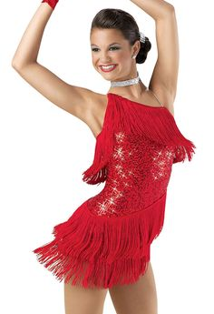Weissman™   One-Shoulder Sequin Fringe Dress Fringe Dress, Hiphop, Dance  Outfits 3b8e2a9401
