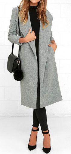Cozy Kind Of Love Heather Grey Coat