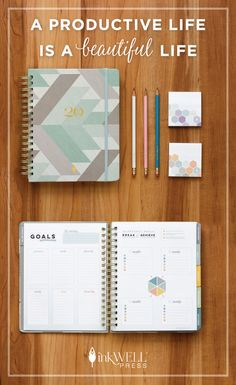 Manage time and tasks with the best mid-year planner to help boost productivity at work and home. Maintain balance in life with the inkWELL Press planner and productivity tools. Learn how to achieve your goals while reducing stress at work and home so you can focus on the important things in life.