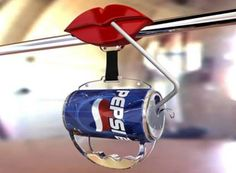 Pepsi Bus Handle Advertisement- would make me want a cold Pepsi after a bus ride.
