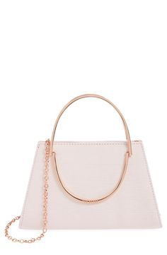 So in love with this convertible crossbody bag from Ted Baker! It features gleaming rose-goldtone hardware for a polished look.