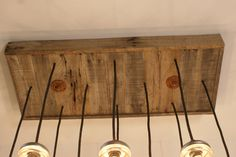 Upcycled Wood Chandelier