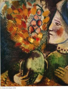Woman with a Bouquet - Chagall Marc