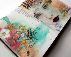 Gayle did it again ! Simple techniques turned into masterpiece! Hello lovely Mixed Media Place friends. I'm sharing an art journal ...