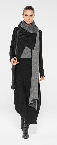 Black and gray and woolen and faux leather