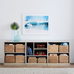 Stack Me Up Low Bookcase Set, Water-Based Brushed Fog at Pottery Barn Teen Low Wide Bookcase, 2 Shelf Bookcase, Horizontal Bookcase, Low Bookshelves, Kids Bookcase, Wall Shelves, Shelving, Kitchen Bookcase, Small Bookcase