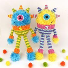 Hairy Horace, Amigurumi Crochet Pattern.