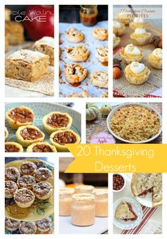 20 Thanksgiving Dessert Ideas - SO many yummy recipes to try!