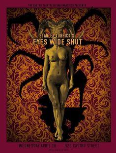 "MP1076. ""Eyes Wide Shut"" Alternative Movie Poster by David O'Daniel (Stanley Kubrick 2011) / #Movieposter"