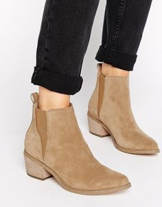Image 1 ofASOS RISKED IT Suede Chelsea Boot