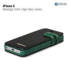 Zenus iPhone 5 Leather Masstige Colour Edge Diary Series - Black