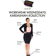 Pennychic creates the perfect workwear look with #kardashiankollection pieces from Sears