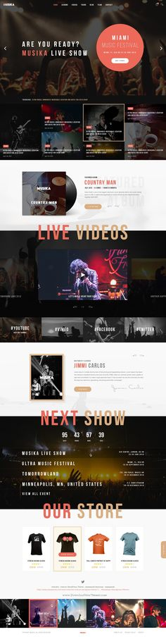 Musika is elegant and modest PSD #template for #music, band and other festival #events stunning website. Download Now!