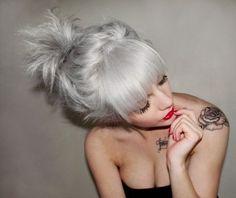 pretty gray hair