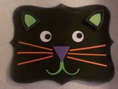 Top Note Cat Kitty Halloween Card