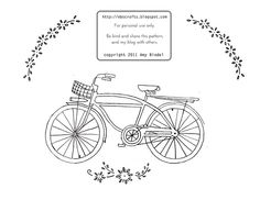 Lovely embroidery pattern by Amy Bindel at Early Bird Special (ebscrafts.blogspot.com) free!