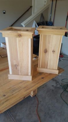 Cedar Planter Box: my wife wanted these to put on our front porch. Purchased cedar from Lowes and cut wood with my miter saw and attached  with a kreg jig and nail gun. Added two coats of polyurethane since it will be outside.