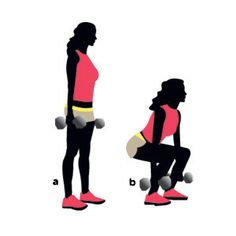 Fry fat in just 15 minutes with this routine! Pictured: Dumbbell squat. The 5 other moves to do:   http://www.womenshealthmag.com/fitness/how-to-burn-fat?cm_mmc=Pinterest-_-WomensHealth-_-Content-Fitness-_-FryFatin15