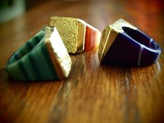 Gold Top Dipped Druzy Agate Rings - in Red, Purple, Teal    Orig:  $145  SALE:  **$ 49.99**    buy.ephphie@gmail.com