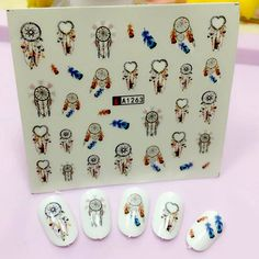 FWC Dream Catcher Series Water Transfer Nail Art Sticker Kids Decals DIY Decoration For Beauty Nail Tools A1263