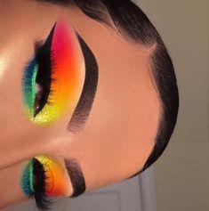 Edgy Makeup, Makeup Eye Looks, Eye Makeup Art, Crazy Makeup, Pretty Makeup, Eyeshadow Makeup, Beauty Makeup, Orange Eyeshadow, Awesome Makeup