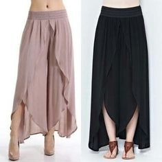 Tulip Pants are the latest trend setters in Pakistan. Fresh in the market they have swirled a wave among young women. Tulip Pants can be worn casually Hijab Fashion, Fashion Dresses, Tulip Pants, Diy Clothes, Clothes For Women, Wrap Pants, Estilo Hippie, Pantalon Large, Mode Hijab